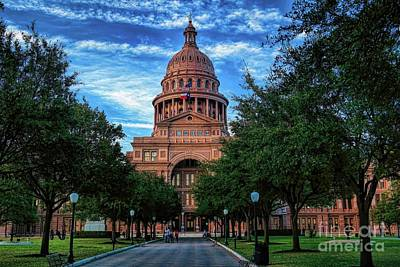 Photograph - Texas State Capitol by Diana Mary Sharpton