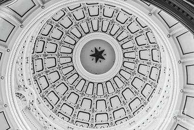 Photograph - Texas State Capitol Dome by Edward Fielding