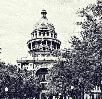Photograph - Texas State Capitol by Luther Fine Art
