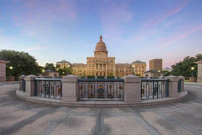 Texas State Capitol Pastel Sunrise 1 Art Print by Rob Greebon