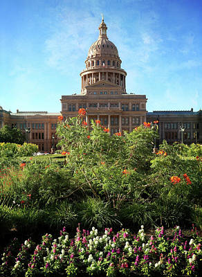Photograph - Texas State Capitol Vertical by Judy Vincent
