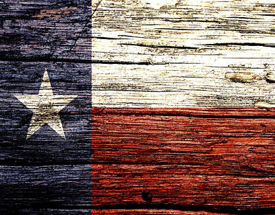 Us Flag Mixed Media - Texas State Flag 2w by Brian Reaves