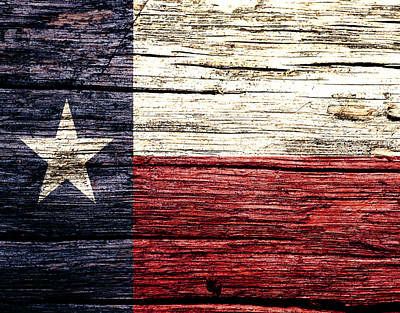 Us Flag Mixed Media - Texas State Flag 3w by Brian Reaves