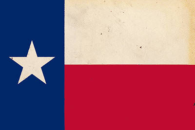 Digital Art - Texas State Flag On Rough Textured Paper by SR Green