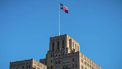 Photograph - Texas State Flag San Antonio by Lawrence S Richardson Jr
