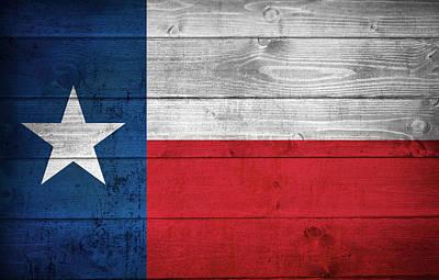 Photograph - Texas State Flag by Taylan Apukovska