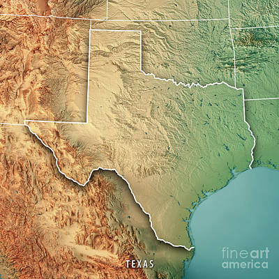 Chihuahuan desert digital art fine art america chihuahuan desert digital art texas state usa 3d render topographic map border by frank ramspott gumiabroncs Choice Image