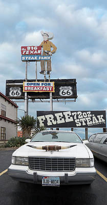 Photograph -  Texas Steak House Kitsch  by Gary Warnimont