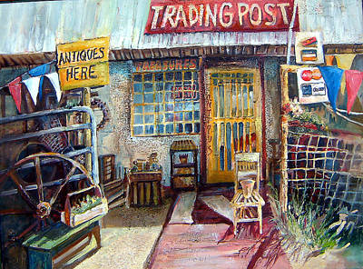 Painting - Texas Store Front by Linda Shackelford