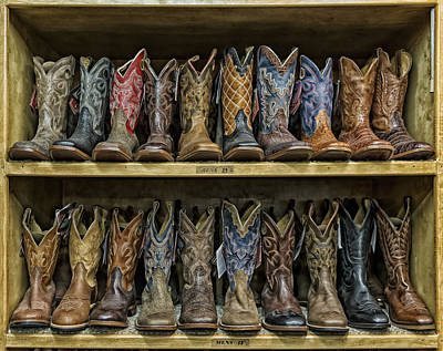 Business Beauties Photograph - Texas Style Cowboy Boots by Mountain Dreams