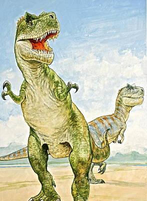 Texas-t-rexes Original by Cliff Spohn