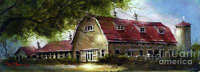 Painting - Texas Tech Dairy Barn by Tim Oliver