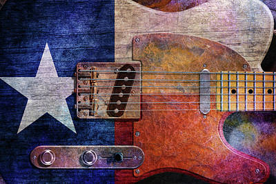 Digital Art - Texas Tele Two by WB Johnston