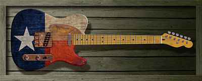 Digital Art - Texas Telecaster by WB Johnston