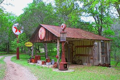 Photograph - Texas Texaco Station by John Babis