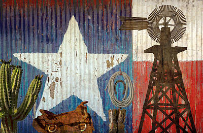 Photograph - Texas The Lone Star State by Suzanne Powers