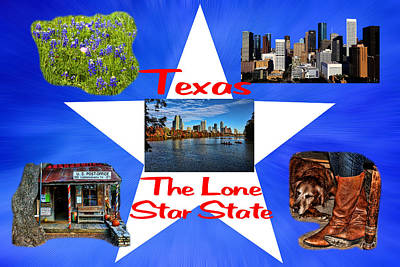 Photograph - Texas The Lone Star State by Judy Vincent