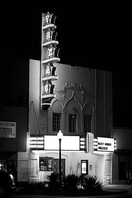 Photograph - Texas Theater Oak Cliff Bw by Rospotte Photography