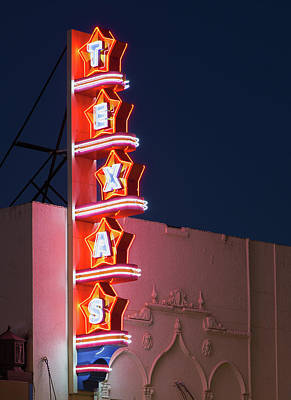 Photograph - Texas Theater V2 31517 by Rospotte Photography
