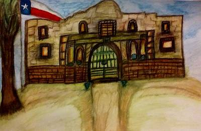 Tree House Painting - Texas Theme  by Stephanie Zelaya