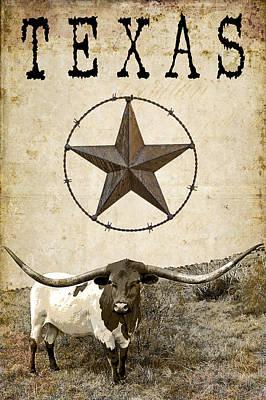Pioneers Digital Art - Texas Tough by Daniel Hagerman