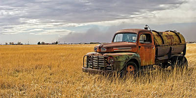 Rusty Old Trucks Photograph - Texas Truck Ws by Peter Tellone