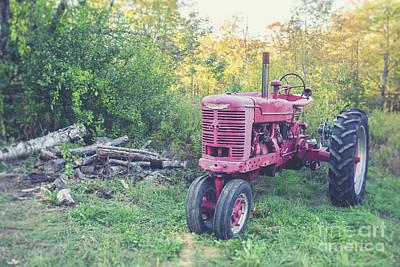 Photograph - Texas Vintage Farmall, Tractor by Edward Fielding