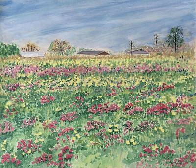 Painting - Texas Weeds by Christine Lathrop