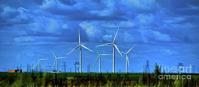 Photograph - Texas Wind Farm by Diana Mary Sharpton