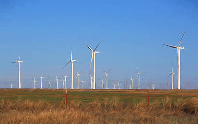 Amarillo Texas Photograph - Texas Wind Farm by Donna Kennedy