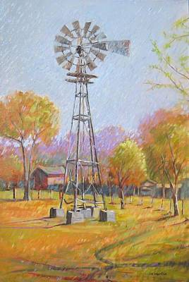 Mike Martin Painting - Texas Windmill by Mike Martin