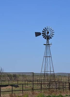 Photograph - Texas Windmill by rd Erickson