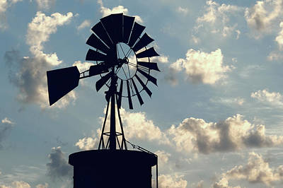 Photograph - Texas Windmill V2 032718 by Rospotte Photography