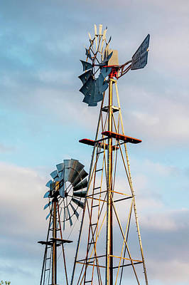 Photograph - Texas Windmills by Art Block Collections
