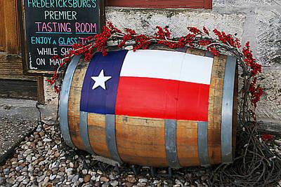 Texas Wine Cask Art Print