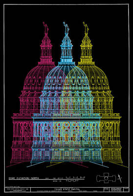 Digital Art - Texascapitolbldg by Gary Grayson