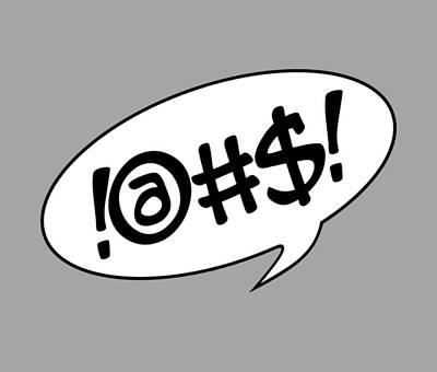 Comics Digital Art - Text Bubble by Marianna Mills