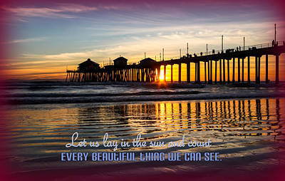 Photograph - Text Pier by Kip Krause