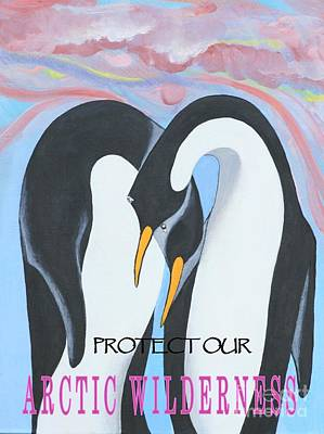 Painting - Text - Protect Our Arctic Wilderness by Jean Clarke