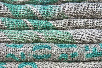 Paper Bag Photograph - Textile Detail Background by Tom Gowanlock