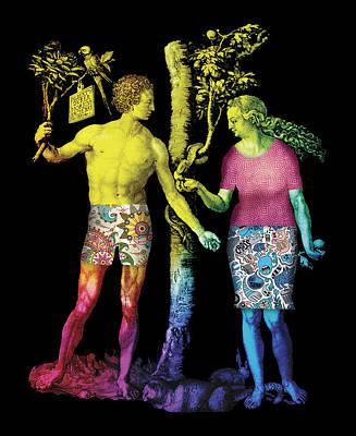 Corrected Painting - Textile by Maciej Mackiewicz