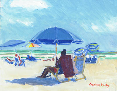 Painting - Texting On Folly Field Beach by Candace Lovely