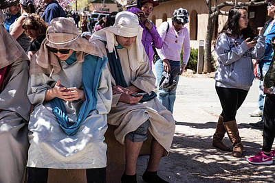 Photograph - Texting Jerusalem by Tom Cochran