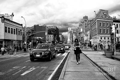 Greenwich Village Photograph - Texting On 7th Avenue by John Rizzuto