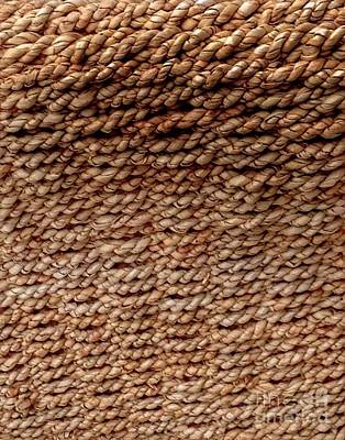 Photograph - Texture Basketweave by Joan-Violet Stretch