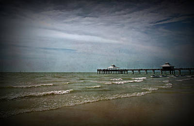 Sea Photograph - Texture Drama Fort Myers Pier by Aimee L Maher Photography and Art Visit ALMGallerydotcom