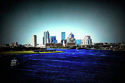 Photograph - Texture Drama Tampa Skyline by Aimee L Maher ALM GALLERY