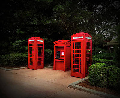 Photograph - Texture Drama Telephone Booths by Aimee L Maher Photography and Art Visit ALMGallerydotcom
