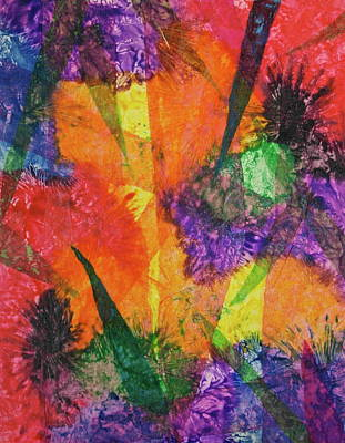Mixed Media - Texture Garden by Michele Myers
