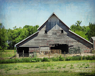 Photograph - Textured Barn by Kathy M Krause